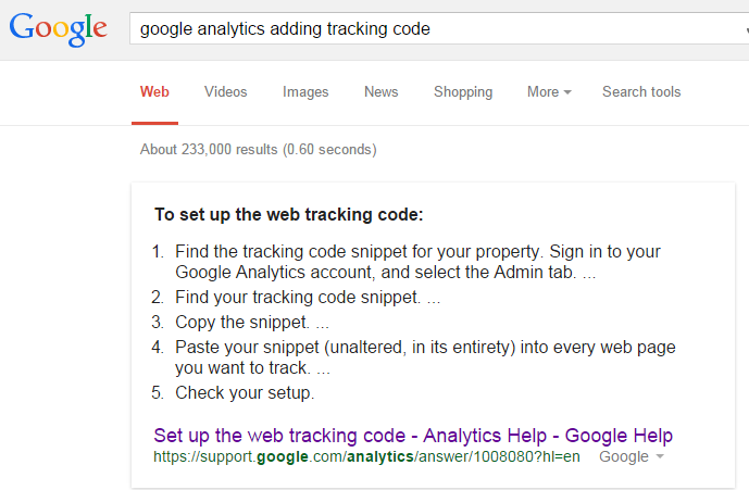 steps to set up Google Analytics