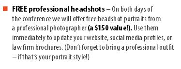 Free Professional Headshots at Solo/Small Conference